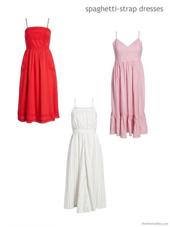 spaghetti strapped dresses