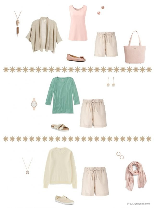9. 3 ways to wear neutral shorts from a capsule wardrobe
