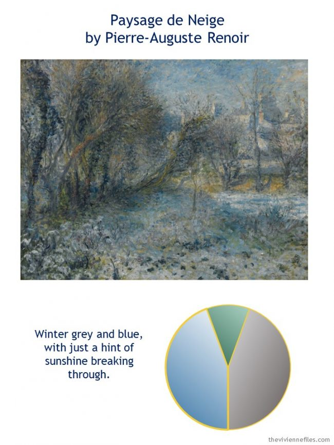 1. Paysage de Neige by Renoir with style guidelines and color palette
