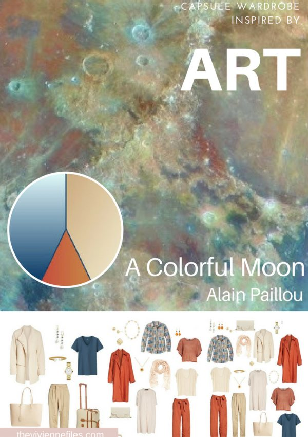 A TRAVEL CAPSULE WARDROBE INSPIRED BY A COLORFUL MOON BY ALAIN PAILLOU