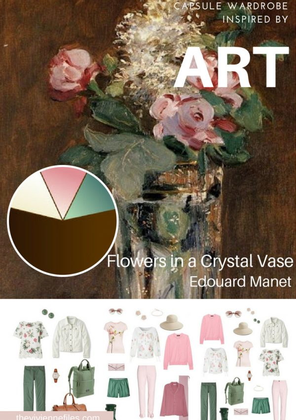 A TRAVEL CAPSULE WARDROBE INSPIRED BY FLOWERS IN A CRYSTAL VASE BY MANET