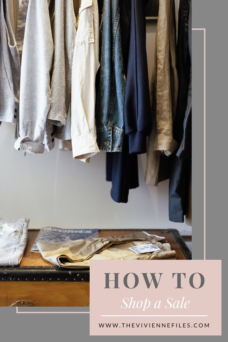 How to Shop a Sale for Your Capsule Wardrobe
