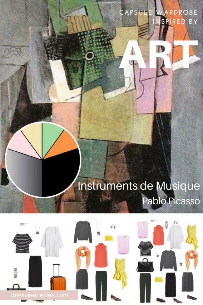 A TRAVEL CAPSULE WARDROBE INSPIRED BY INSTRUMENTS DE MUSIQUE BY PICASSO