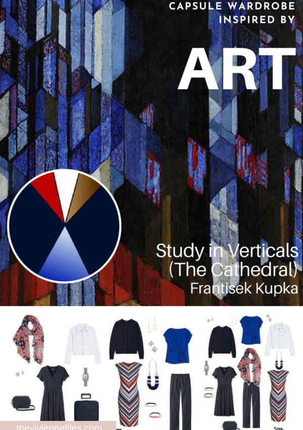 A TRAVEL CAPSULE WARDROBE INSPIRED BY STUDY IN VERTICALS BY FRANTISEK KUPKA