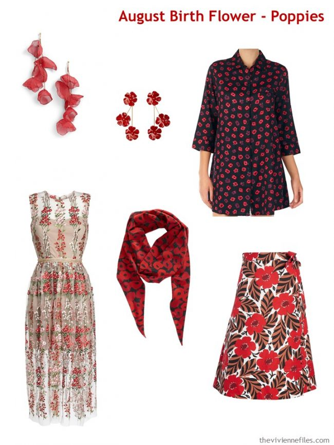 1. Poppy garments and accessories