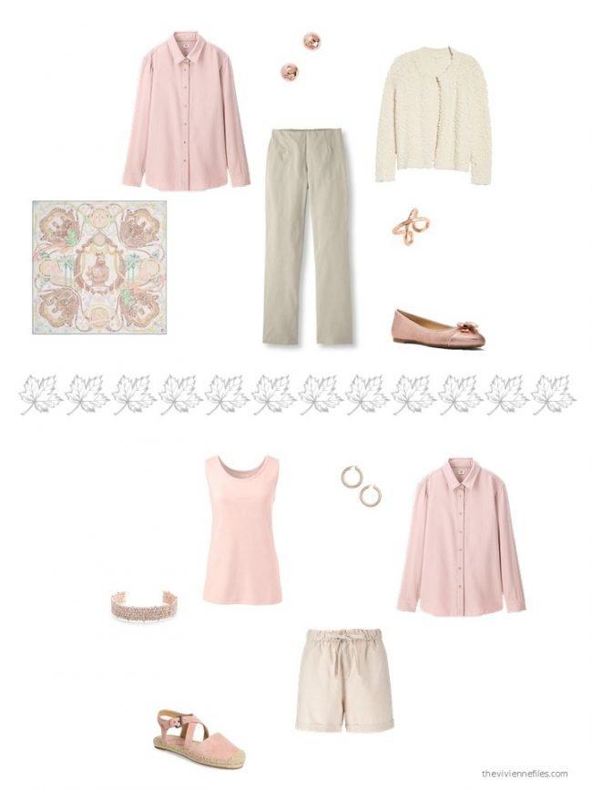 10. 2 ways to wear a pink flannel shirt