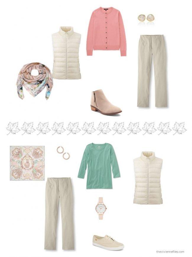 11. 2 ways to wear an ivory down vest