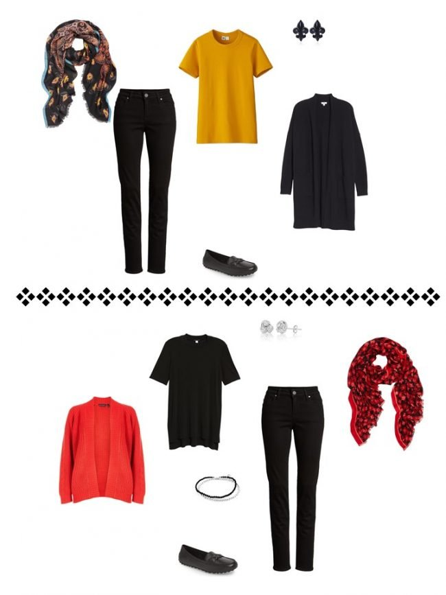 11. 2 ways to wear black jeans from a Project 333 Wardrobe