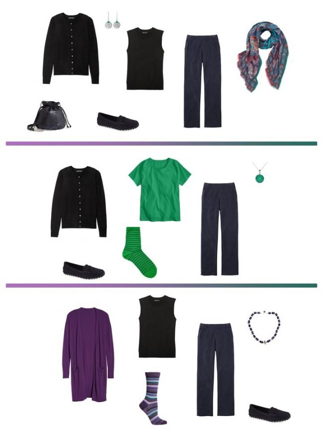 11. 3 ways to wear navy pants from a Project 333 Wardrobe