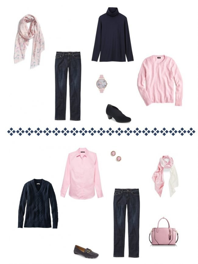 12. 2 ways to wear dark wash jeans from a Project 333 Wardrobe