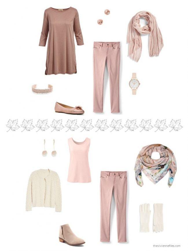 12. 2 ways to wear rose jeans