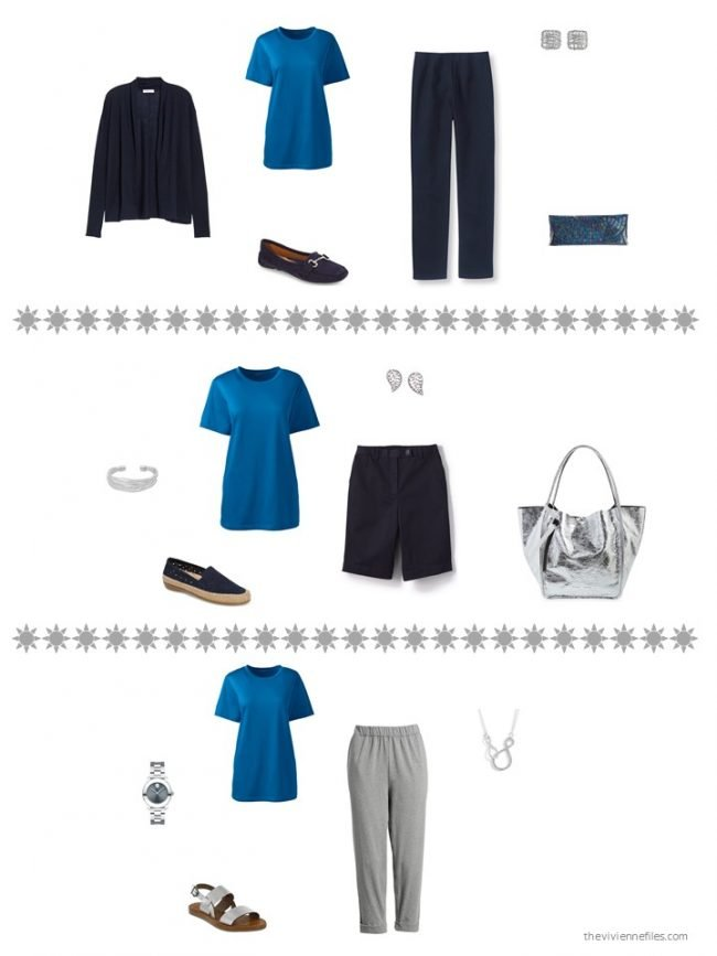 14. 3 ways to wear a blue top