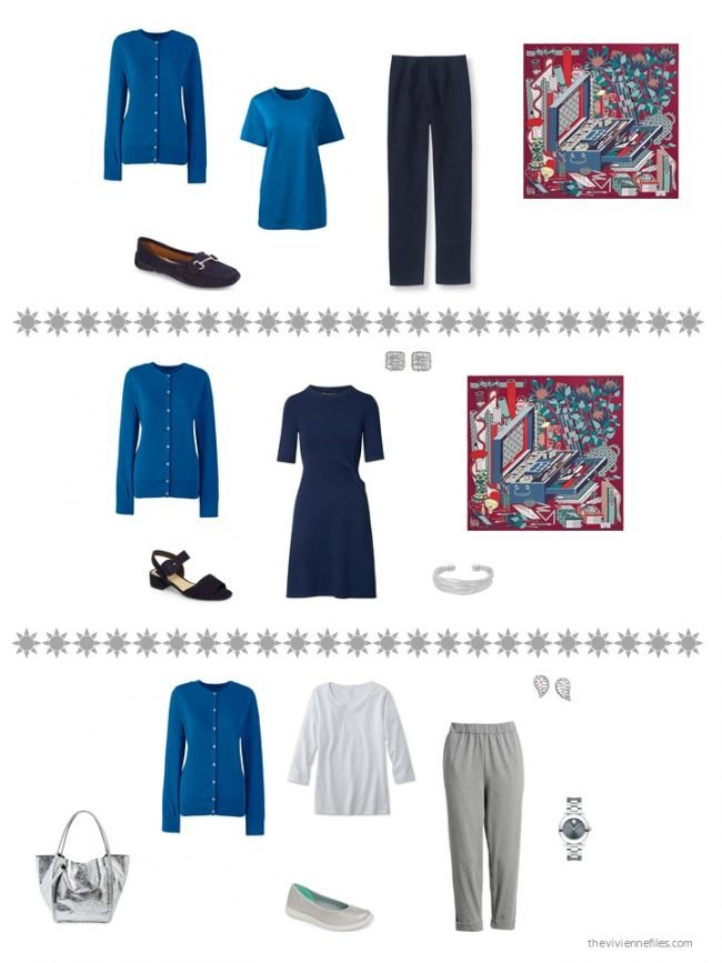 15. 3 ways to wear a blue cardigan