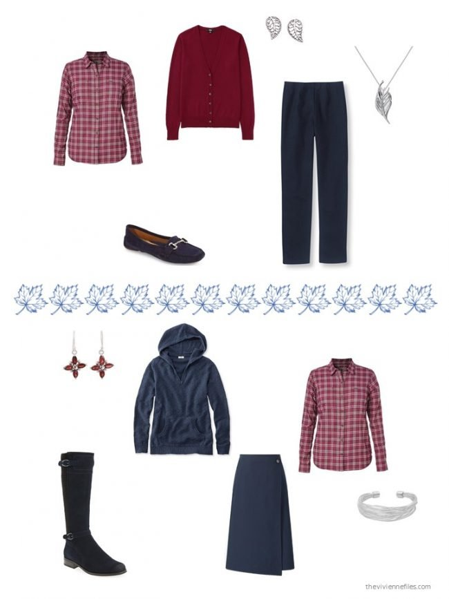 16. 2 ways to wear a red plaid flannel shirt