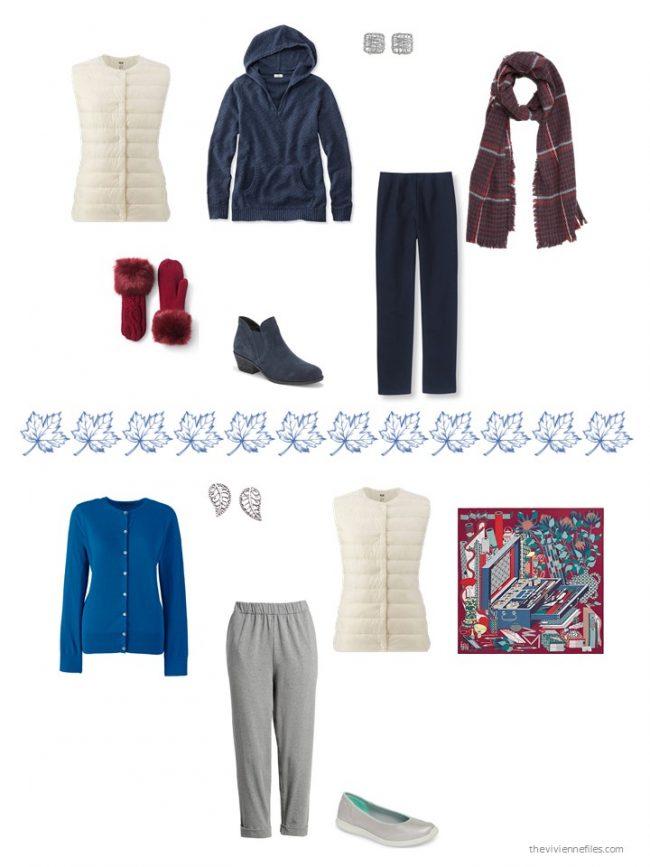 17. 2 ways to wear an ivory down vest