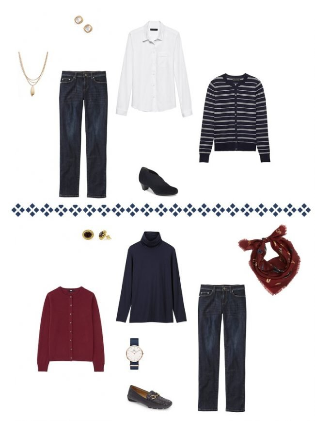 17. 2 ways to wear jeans from a Project 333 Wardrobe