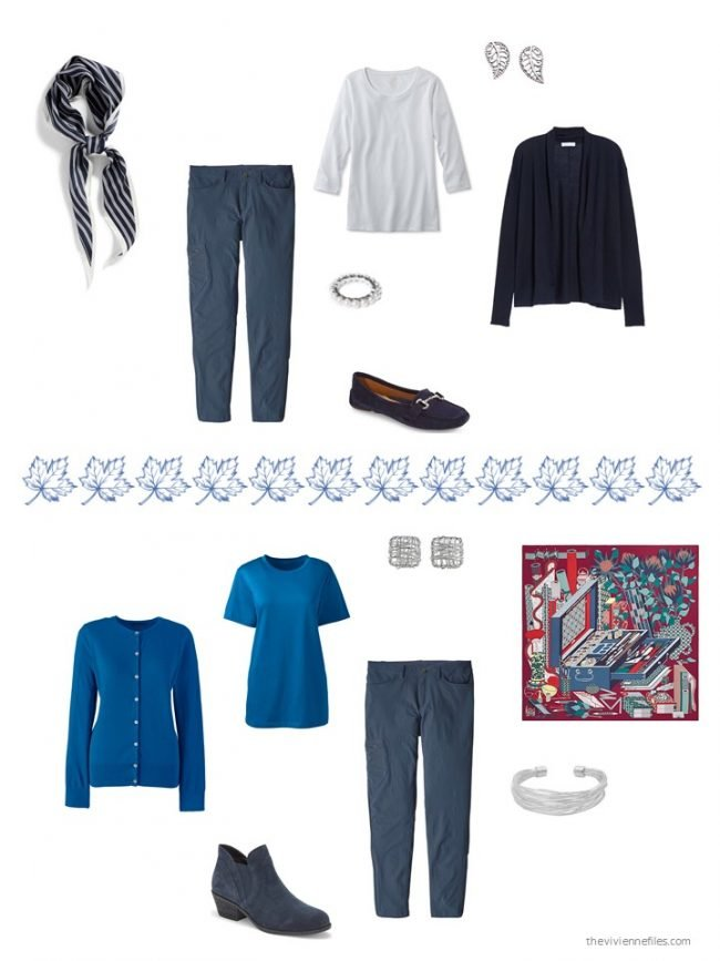 18. 2 ways to wear casual blue pants
