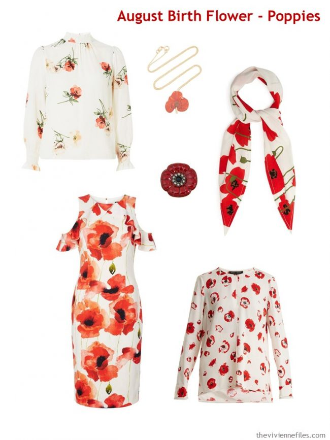 2. Poppy garments and accessories