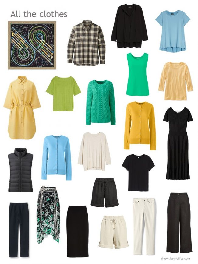 2. capsule wardrobe based on black
