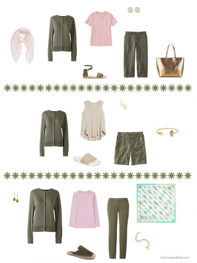 20. 3 ways to wear an olive cardigan