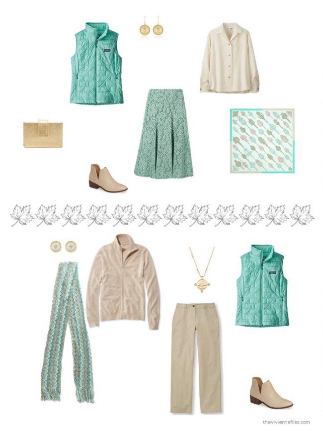 23. 2 ways to wear a green vest