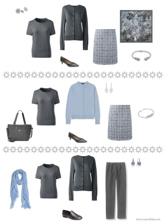 24. 3 ways to wear a charcoal grey top
