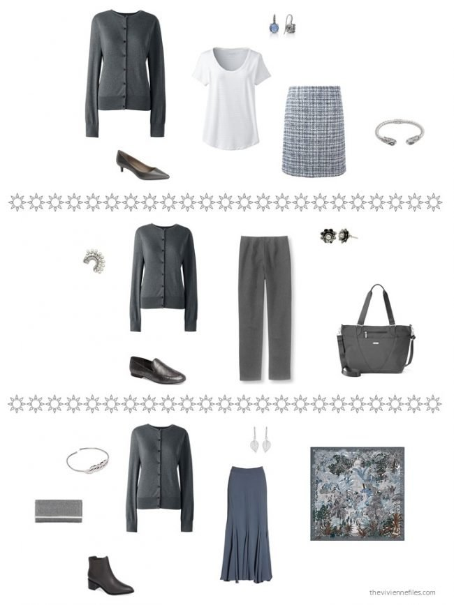 25. 3 ways to wear a charcoal cardigan