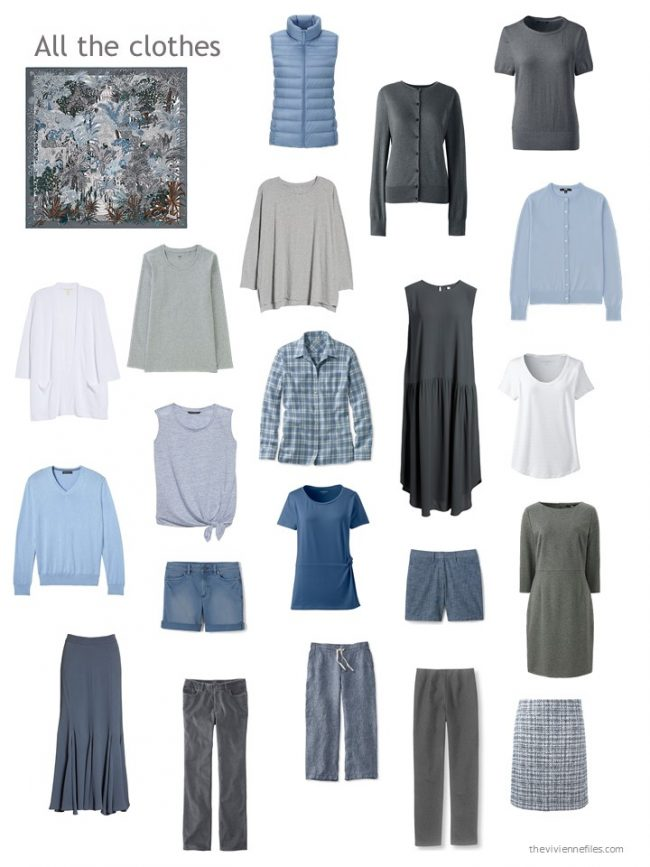 26. capsule wardrobe in grey and blue