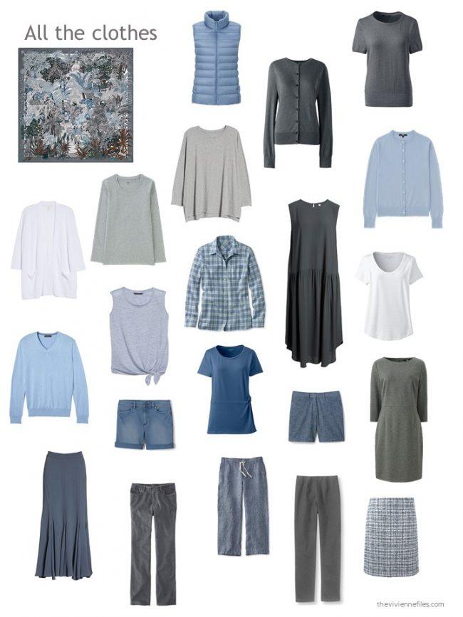 26. capsule wardrobe in grey and blue