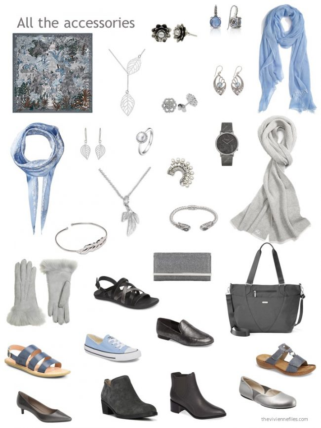 27. accessory wardrobe based on blue and grey
