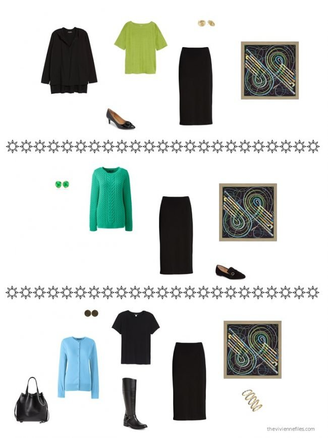 3. 3 ways to wear a black skirt