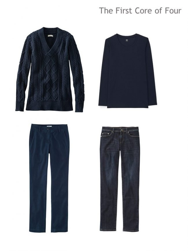 3. Core of 4 navy garments for Autumn