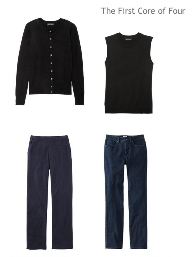 3. Navy Core of 4 twinset, pants and jeans