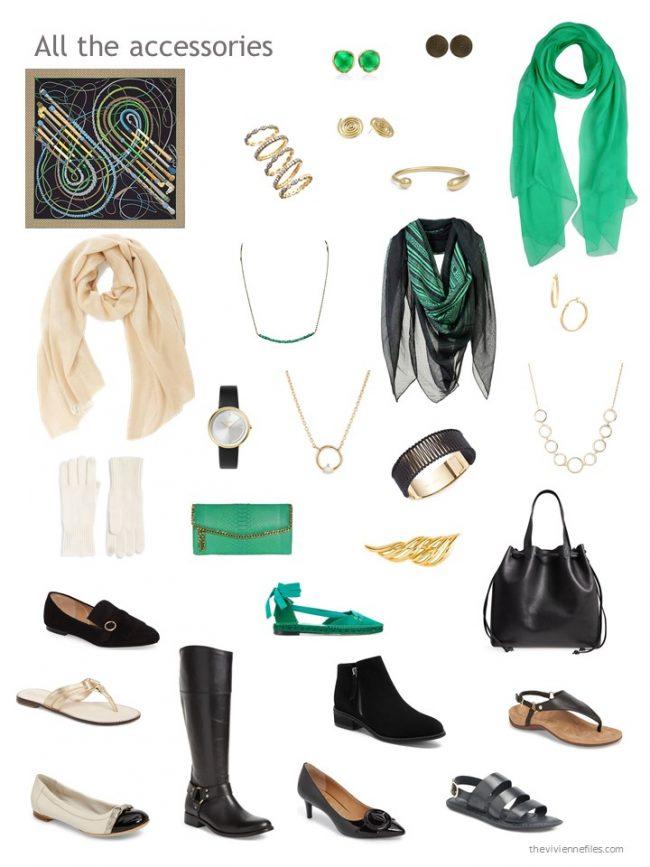 3. accessory wardrobe based on black