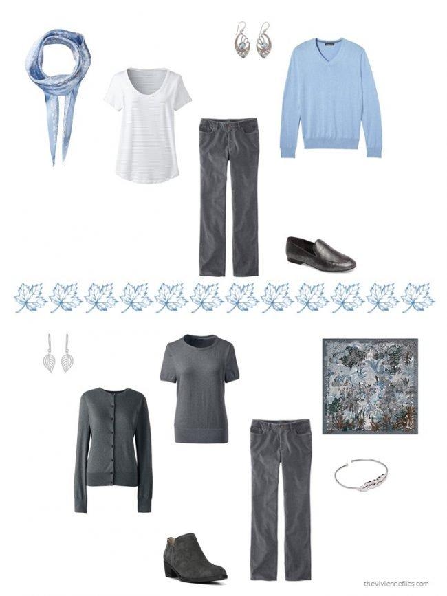 30. 2 ways to wear grey corduroy pants