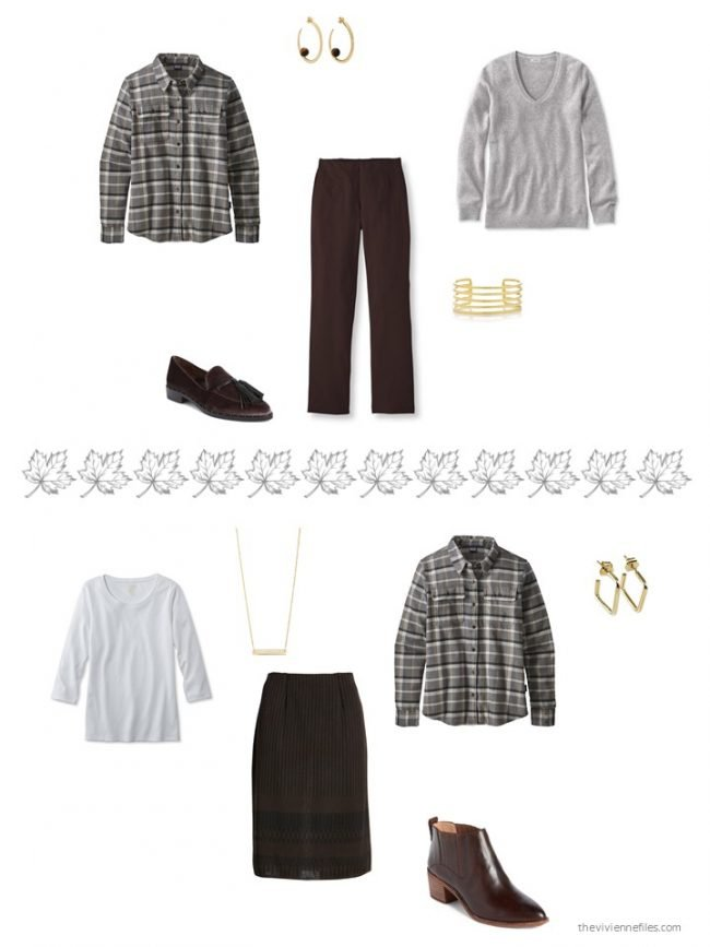 34. 2 ways to wear a black plaid flannel shirt