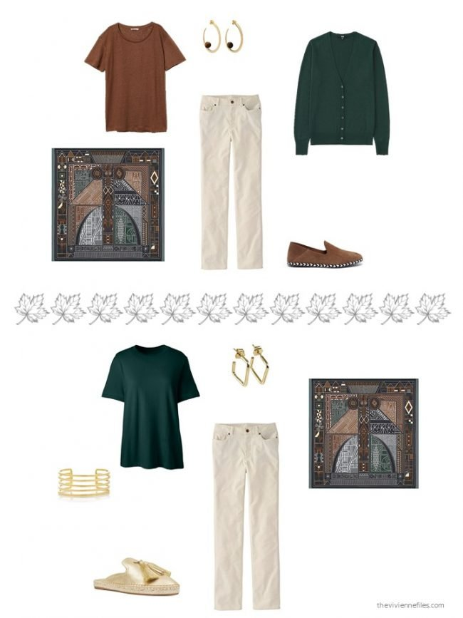 36. 2 ways to wear ivory jeans