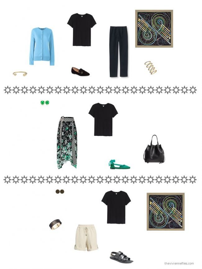 4. 3 ways to wear a black silk tee