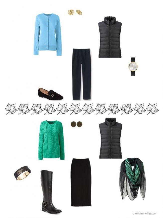 5. 2 ways to wear a black down vest