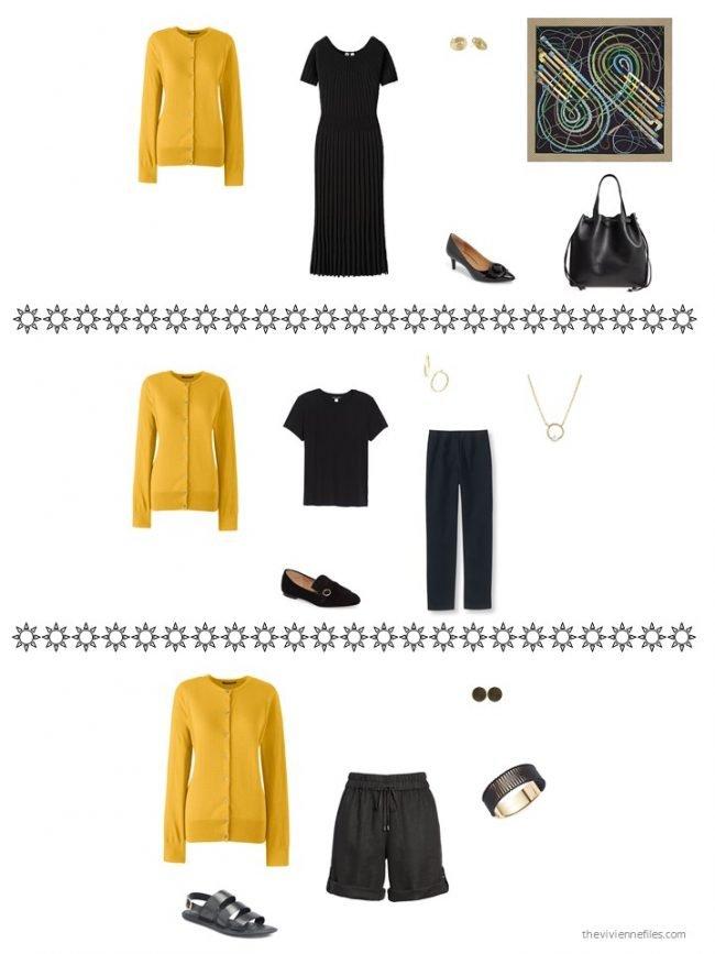 5. 3 ways to wear a gold cardigan