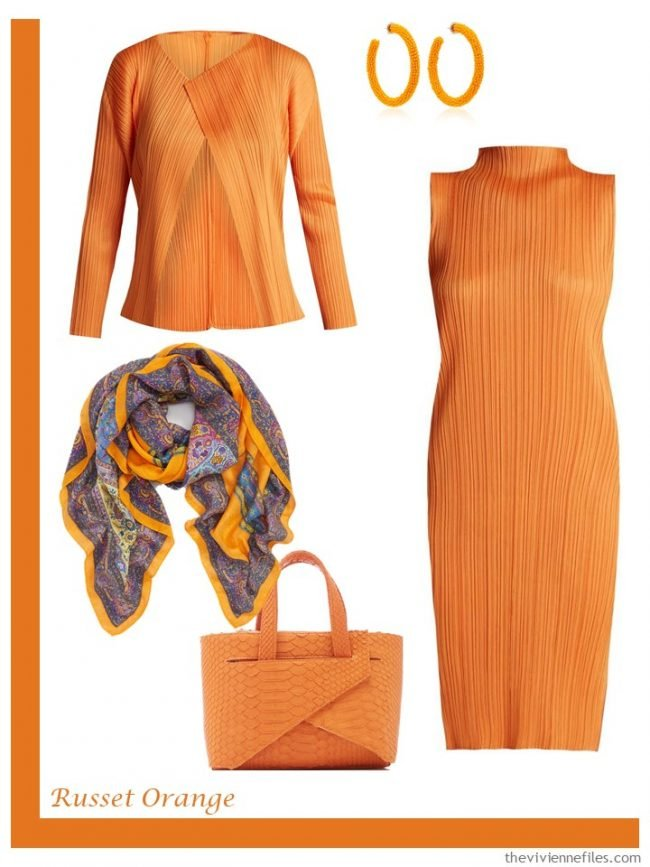 6. Russet Orange French 5-Piece Wardrobe
