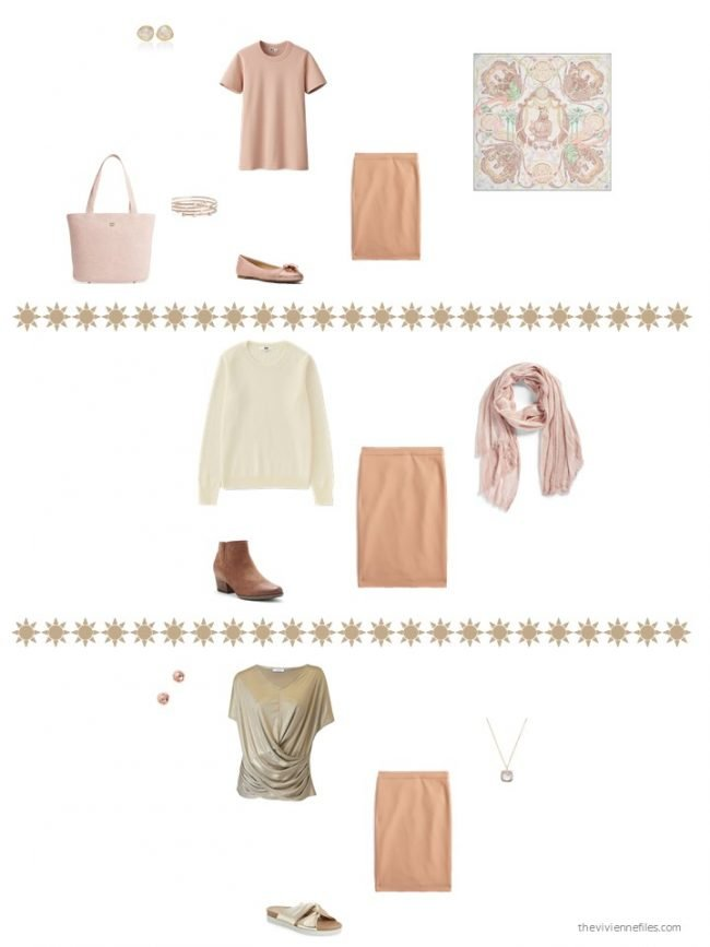 8. 3 ways to wear an apricot skirt