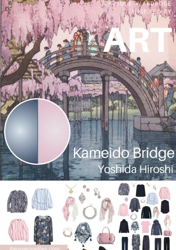 PROJECT 333 TRAVEL CAPSULE WARDROBE INSPIRED BY KAMEIDO BRIDGE BY YOSHIDA HIROSHI