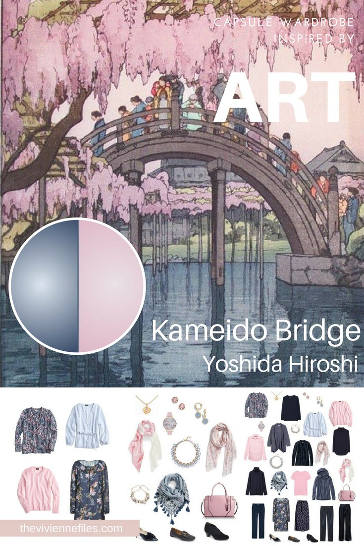 PROJECT 333 TRAVEL CAPSULE WARDROBE INSPIRED BY KAMEIDO BRIDGE BY YOSHIDA HIROSHI