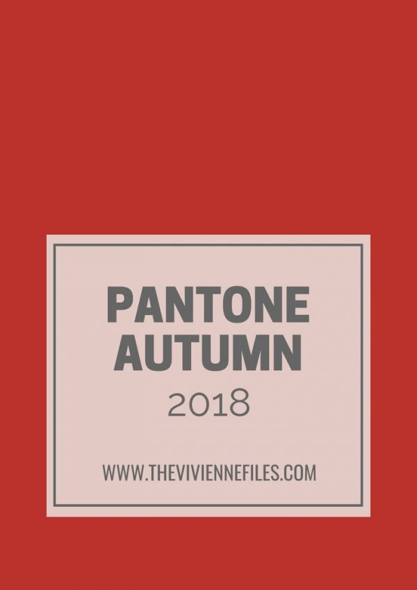 TRAVEL CAPSULE WARDROBE ACCENT COLORS INSPIRED BY PANTONE AUTUMN 2018