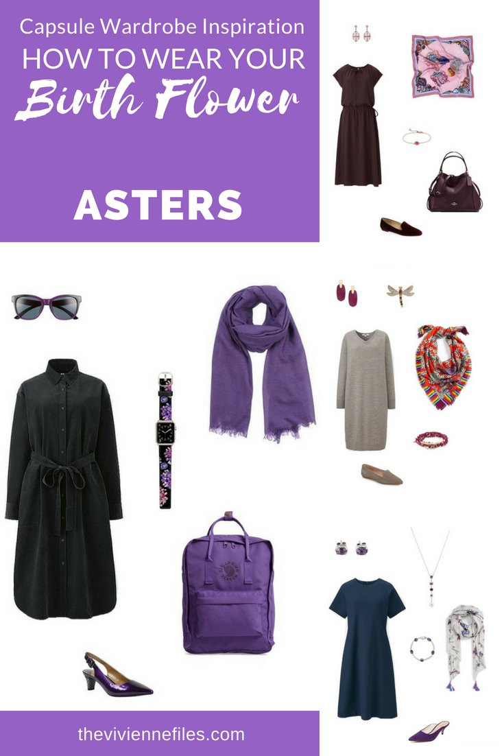 CREATE A TRAVEL CAPSULE WARDROBE INSPIRED BY ASTERS, THE BIRTH FLOWER FOR SEPTEMBER