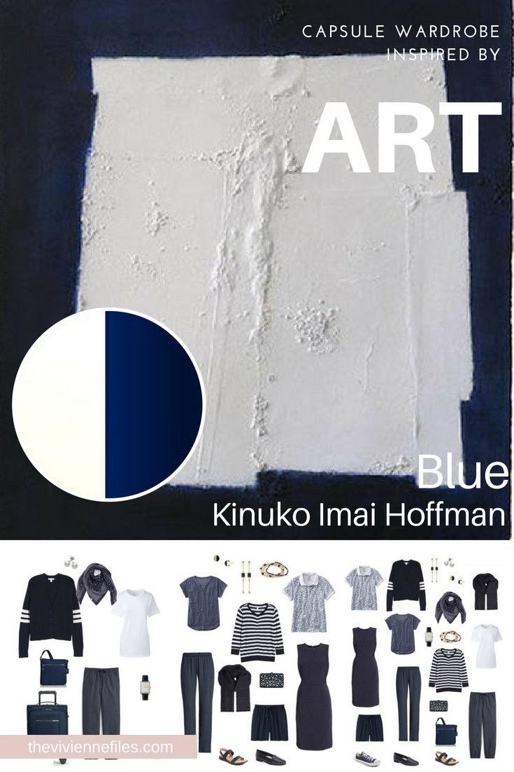 A TRAVEL CAPSULE WARDROBE INSPIRED BY BLUE BY KINUKO IMAI HOFFMAN