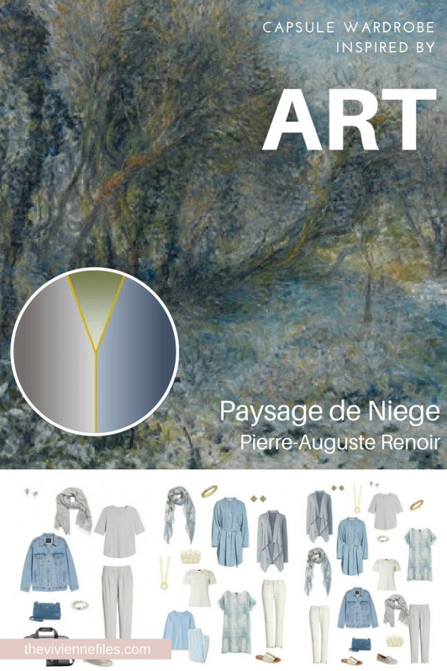 A TRAVEL CAPSULE WARDROBE INSPIRED BY PAYSAGE DE NEIGE BY RENOIR