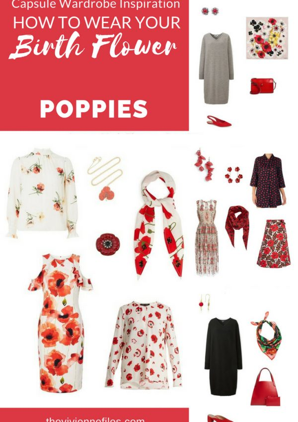 A TRAVEL CAPSULE WARDROBE INSPIRED BY POPPIES - THE BIRTH FLOWER FOR AUGUST