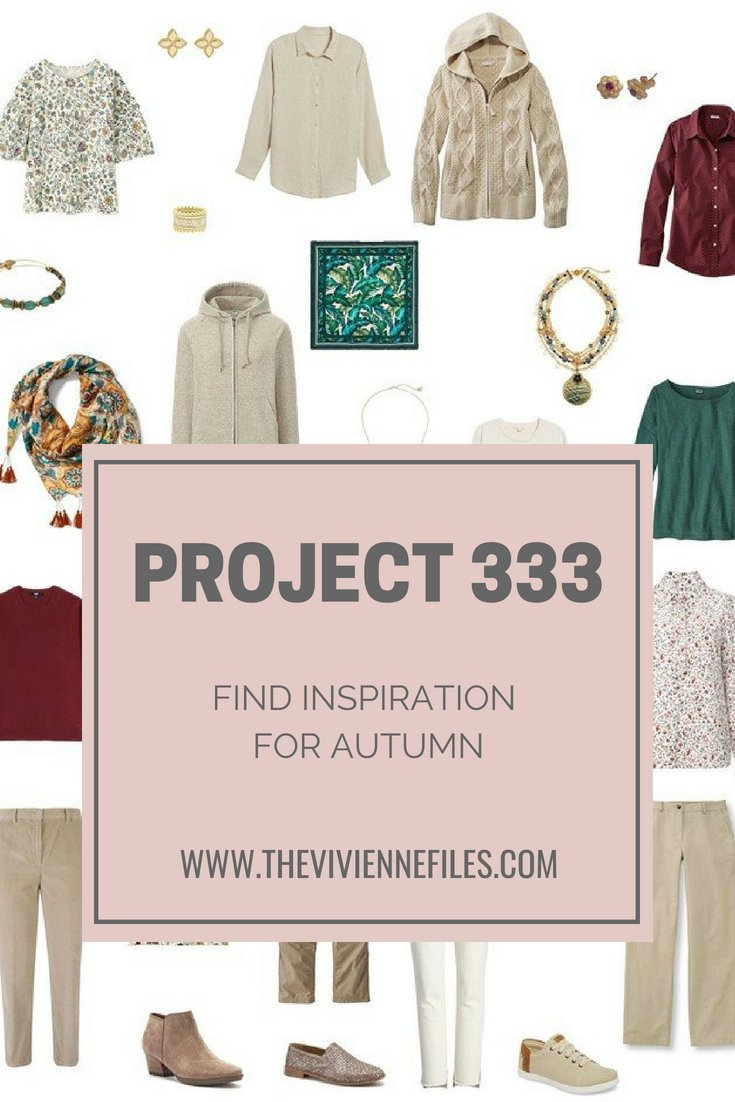 TRY PROJECT 333 FOR AUTUMN 2018